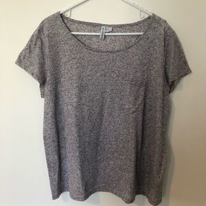 H&M grey top with pocket
